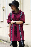 BACKS バックス ロング丈 フード Tシャツ (Lady's/レディース)
