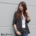 【C.BY.C/シーバイシー】2WAYレーヨンチェックシャツ(ladie's/レディース)