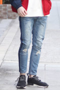 【WEB SHOP 限定商品】COOKJEANS クックジーンズ サイドライン デニムパンツ (Men's/メンズ)