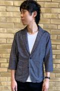 COOKJEANS クックジーンズ 7分袖 リップル テーラードジャケット (Men's/メンズ)