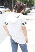 BACKS バックス 袖ライン フード 半袖 Tシャツ (Lady's/レディース)