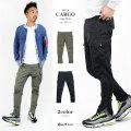 COOKJEANS クックジーンズ ジップ アップ カーゴパンツ メンズ カーゴ パンツ カラーパンツ ボトムス(men's/メンズ)