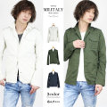 COOKJEANS クックジーンズ ミリタリー シャツ ジャケット  メンズ  春シャツ 春ジャケット(men's/メンズ)