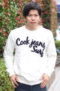 COOKJEANS クックジーンズ ロゴ スウェット サガラ刺繍 刺繍 トレーナー(men's/メンズ)