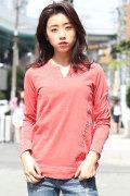 COOKJEANS クックジーンズ ピグメント ロンT レディース 長袖 Tシャツ(Lady's/レディース)