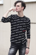 COOKJEANS ロゴ総柄 ベア天竺 長袖 Tシャツ(Men's/メンズ)