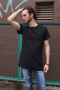 COOKJEANS クックジーンズ ロング丈 サイド ファスナー Tシャツ(Men's/メンズ)