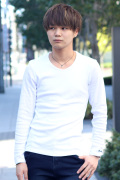 COOKJEANS クックジーンズ フライス 長袖Tシャツ ロンT Uネック(men's/メンズ)