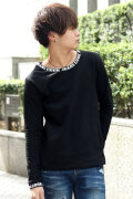 COOKJEANS クックジーンズ ロゴ プリント 長袖 Tシャツ カットソー (Men's/メンズ)