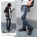 【COOKJEANS/クックジーンズ】リューリ デニムパンツ ヴィンテージ ペイント メンズ(men's/メンズ)