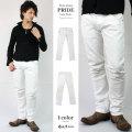 【10%OFF】【COOKJEANS/クックジーンズ】ホワイト デニム PRIDE スキニー デニム パンツ ストレッチ (men's/メンズ)