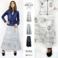 【45%OFF】【COOKJEANS/クックジーンズ】オルテガ スウェット スカート ロングスカート ネイティブ マーメイド(Lady's/レディース)