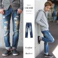 【50%OFF】【COOKJEANS/クックジーンズ】ROMANY CRASH クラッシュ デニム パンツ(men's/メンズ)
