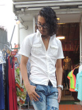 【COOKJEANS/クックジーンズ】MADE IN JAPAN カーペンター半袖ストレッチシャツ(men's/メンズ)