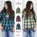 【45%OFF】【COOKJEANS/クックジーンズ】インディゴ チェック シャツ ネルシャツ(Lady's/レディース)