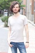 【34%OFF】【COOKJEANS/クックジーンズ】'16フライス 半袖 Tシャツ Vネック 無地 定番 半袖Vネック トップス (men's/メンズ)