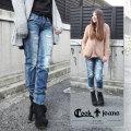【COOKJEANS/クックジーンズ】RomanyCrashデニムパンツ(ladie's/レディース)