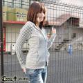 【COOKJEANS/クックジーンズ】ケーブル切り替えジップパーカー(ladie's/レディース)