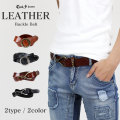COOKJEANS クックジーンズレザーベルト 本革 牛革 ユニセックス バックル リアルレザー ヴィンテージ加工 皮革(men's/メンズ)