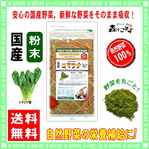 【送料無料】 国産 コマツナ 粉末 (100g)[やさいパウダー100%] 野菜 粉末 (小松菜) こまつな