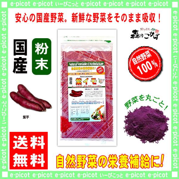 【送料無料】 国産 紫イモ 粉末 (150g 内容量変更) 紫芋 [やさいパウダー100%] 野菜 粉末 (紫いも) 紫いも