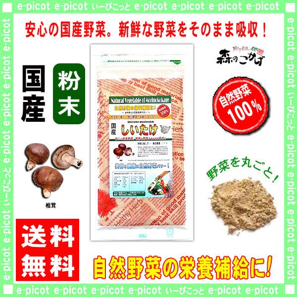 【送料無料】 国産 椎茸  粉末 (100g)[やさいパウダー100%] 野菜 粉末 (しいたけ) シイタケ