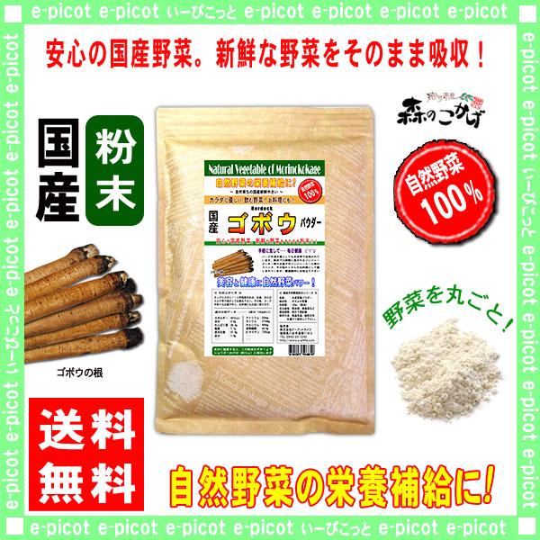 G1【送料無料】 国産 ゴボウ 粉末 ★(300g)[やさいパウダー100%] 野菜 粉末 (牛蒡) ごぼう