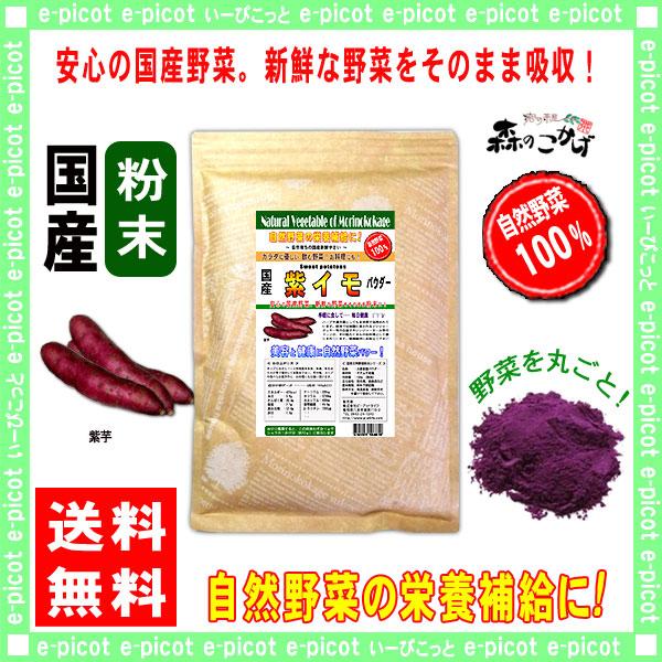 【送料無料】 国産 紫イモ 粉末 ★(500g) 紫芋 [やさいパウダー100%] 野菜 粉末 (紫いも)紫いも