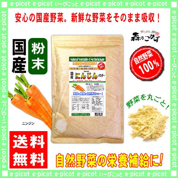 G1【送料無料】 国産 ニンジン 【粉末】 (300g) やさい パウダー 100% 野菜粉末 人参 にんじん