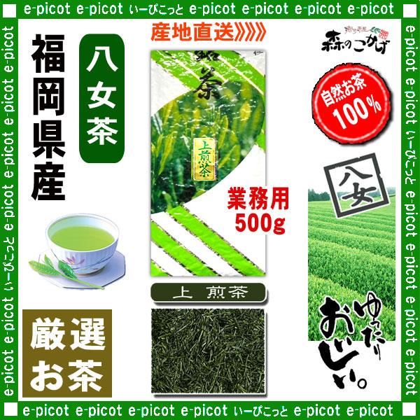 Y1【八女茶】 上 煎茶 ★ 〔業務用 500g〕 ◆ 福岡県-日本茶 -厳選の緑茶