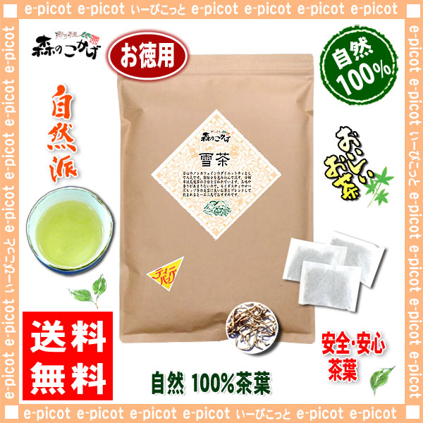 A2【お徳用TB送料無料】 雪茶 (2g×60p) ティーバッグ ゆき茶 100% スノー ティー