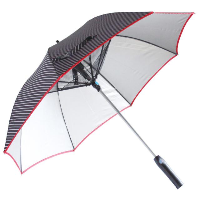 SPICE OF LIFE 扇風機付き 日傘 ファンファンパラソル シルバーコーティング 晴雨兼用 電池式 HHLG9120 レジメンタル