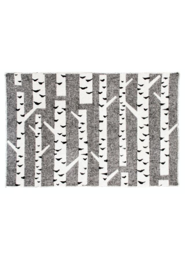 ラプアンカンクリ/ウールブランケット/KOIVU/ホワイトブラック