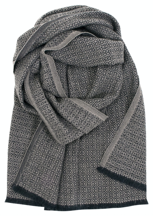 ラプアンカンクリ コリ メリノウールスカーフ  ベージュ-ブラック