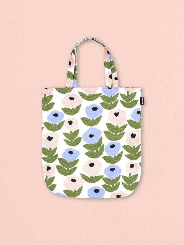 カウニステ Kauniste 北欧フィンランド デザイン トートバッグ Flora フローラ ブルー