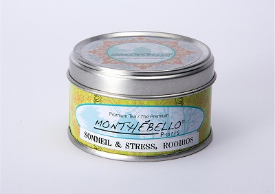 フランス パリの紅茶/カフェインレスティー/モンテベロ/MONTEBELLO Paris/ルイボス・ティザーヌ/25g フランス製オリジナル缶