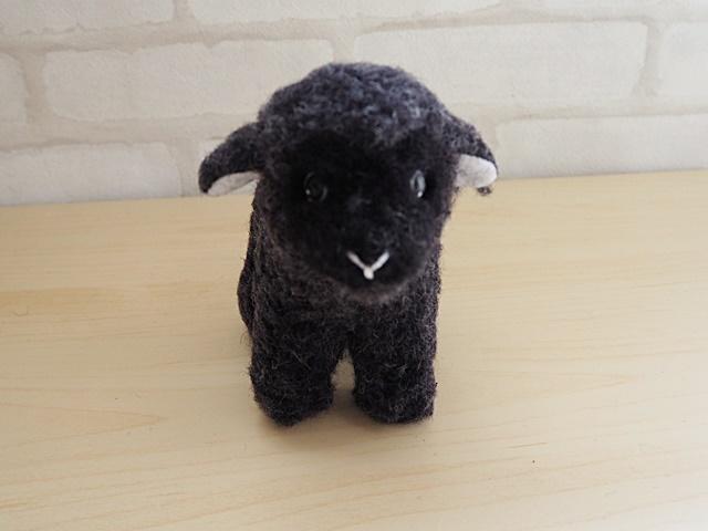 COLDBREAKER/コールドブレーカー/Sheep Mini/フワフワ新毛ウール100%のヒツジのぬいぐるみ ミニサイズ/ブラック