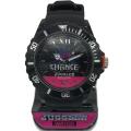 ジャグラー ウォッチ 腕時計 ブラック・ピンクのツートンカラー / GOGO!CHANCE パチスロ スロット キャラクター グッズ