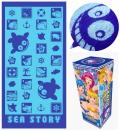 海物語 ジャガードバスタオル パチンコ キャラクター グッズ クジラッキー 海物語グッズ クジラッキーグッズ
