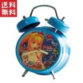 海物語 サウンド目覚し時計 蓄光仕様 大当たり音搭載 ブルー マリンちゃん