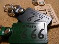 本皮ナンバープレートキーホルダー