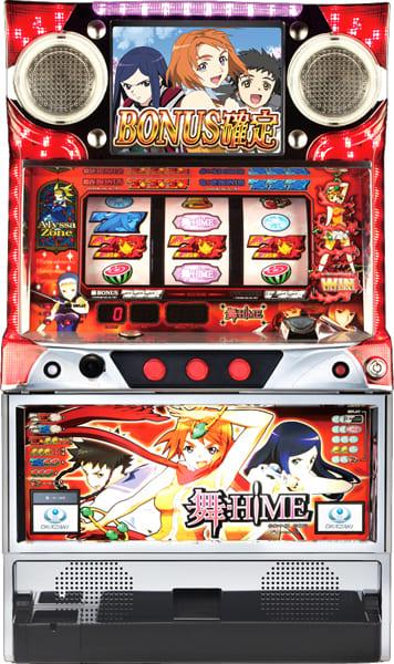 パチスロ実機 岡崎産業 舞-HiME【コイン不要機非対応】