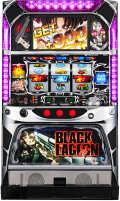 【訳あり】パチスロ実機 スパイキー BLACK LAGOON(ブラックラグーン)【レバー下ヒビ】