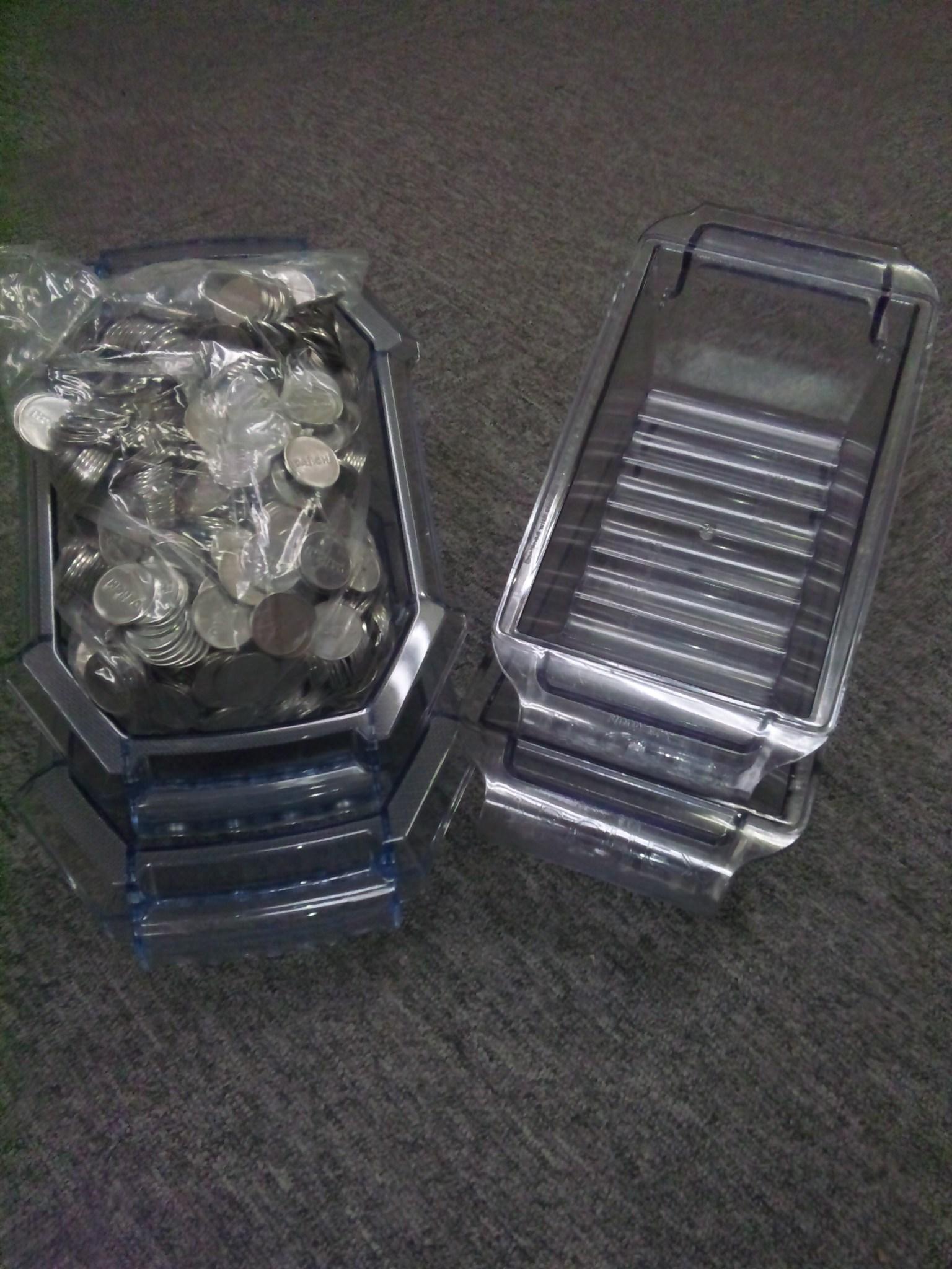 中古コイン1000枚(同一柄25パイ)ドル箱付き