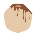 ラミクラフトクレープ包装紙 変形チョコ  3000枚