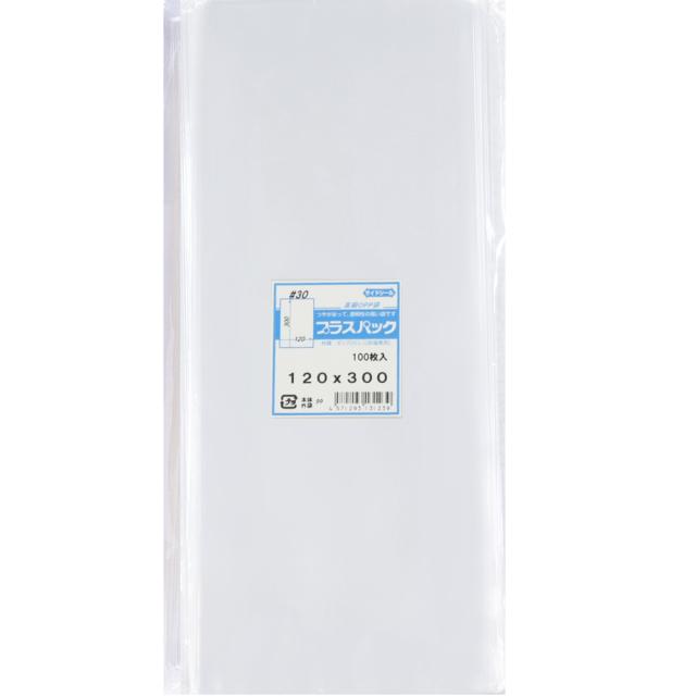 OPP袋 横120x縦300mm テープなし (100枚) 30# プラスパック P040