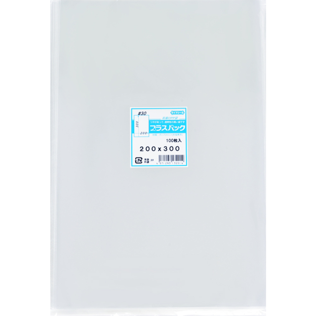 OPP袋 ( 30#x 200x300 ) ( 100枚 ) プラスパック P066