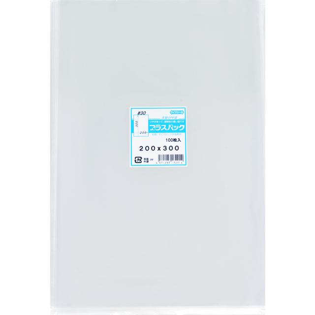 OPP袋 横200x縦300mm テープなし (100枚) 30# プラスパック P066