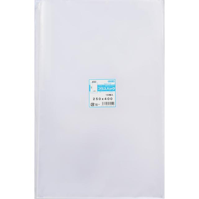 OPP袋 [色紙用] 横250x縦400mm テープなし (100枚) 30# プラスパック P073