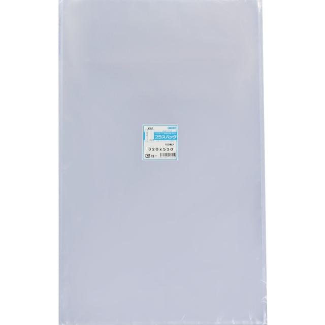 OPP袋 [ A3 サイズ] 横320x縦530mm テープなし (100枚) 30# プラスパック P080